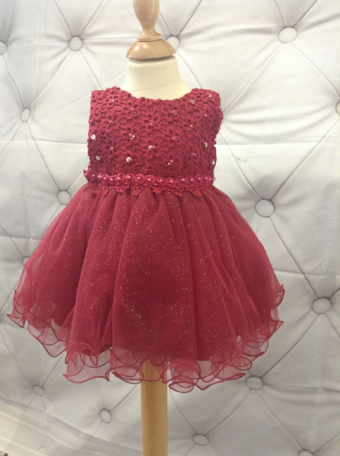 Red Dress with Sparkle Skirt